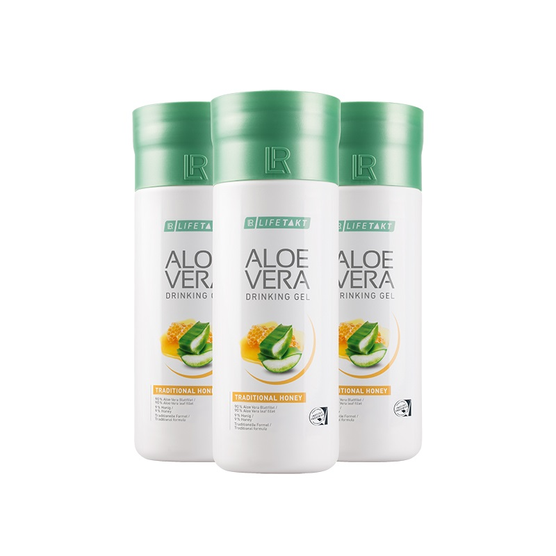 LR Aloe Vera Drinking Gel Traditional s medem 3 x 1 000 ml