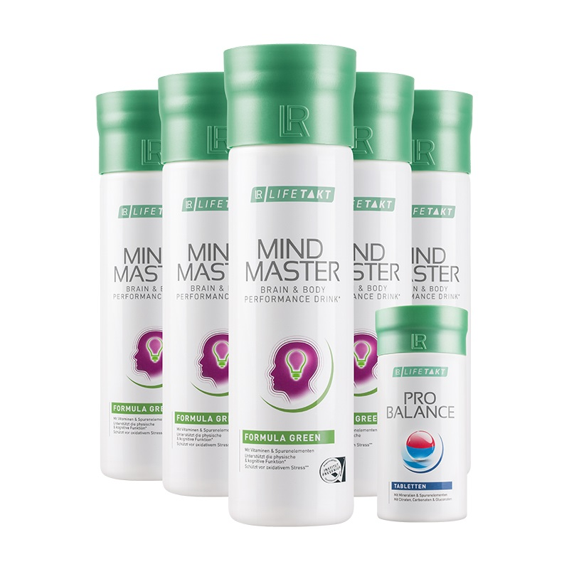 LR Mind Master 5 ks x 500 ml Green a ProBalance Tablety 360 ks