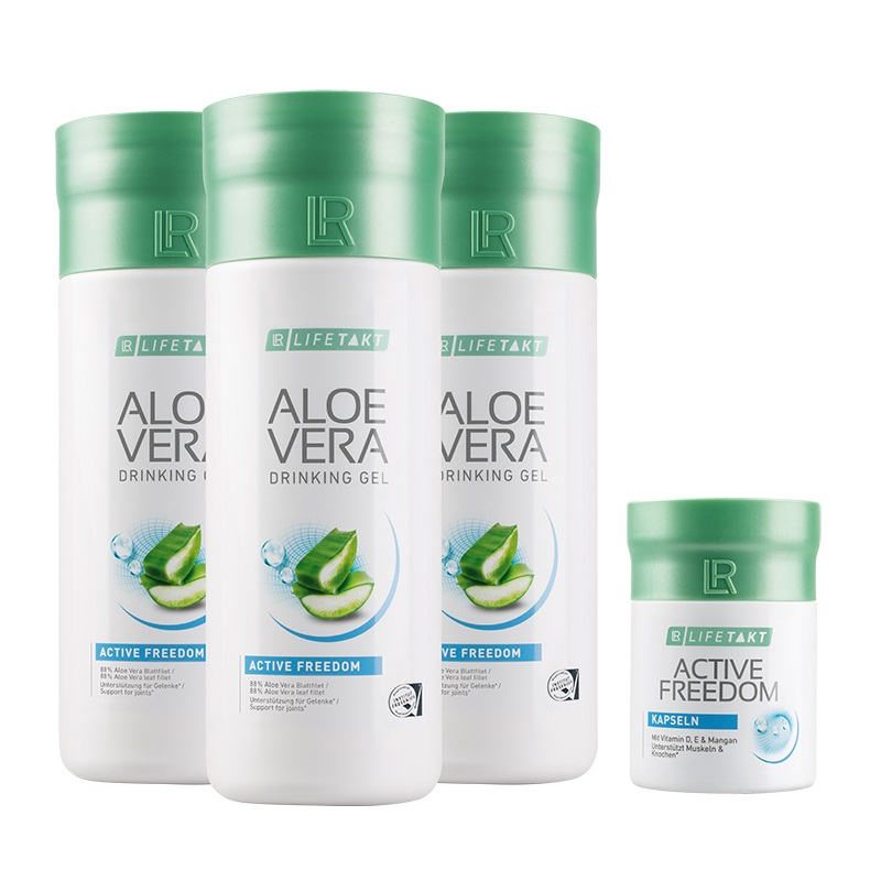 LR Aloe Vera Drinking Gel Active Freedom 3 ks x 1000 ml a Active Freedom Kapsle